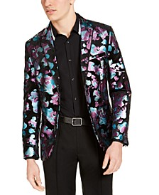 INC Men's Slim-Fit Foil Floral Blazer, Created for Macy's