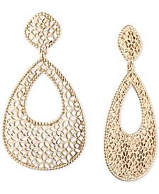 Gold-Tone Filigree Chandelier Earrings