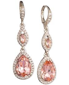 Crystal & Stone Double Drop Earrings
