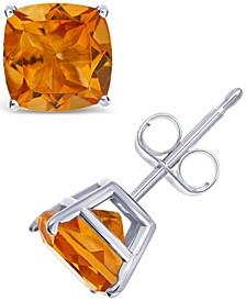 Citrine (2-7/8 ct. t.w.) Stud Earrings in Sterling Silver