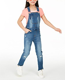 Big Girls Denim Overalls, Created for Macy's