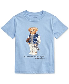 Toddler Boys Football Bear Cotton T-Shirt