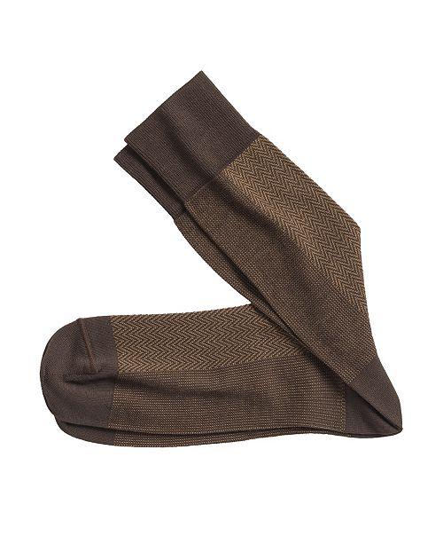 Johnston & Murphy Herringbone Panel Socks