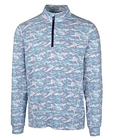Men's Traverse Camo Print Half Zip T-Shirt