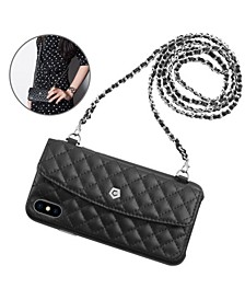 Leather Chain Bag Wallet Case for iPhone X, XS