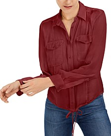 Tie-Hem Button-Front Top, Created For Macy's