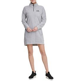 Sport Half-Zip Logo Dress