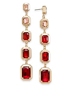 Gold-Tone Ombré Stone Drop Earrings, Created for Macy's