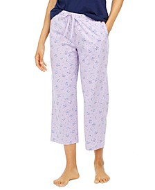Cotton Printed Cropped Pajama Pants, Created for Macy's