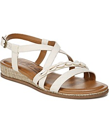 Grace Strappy Demi-Wedge Sandals