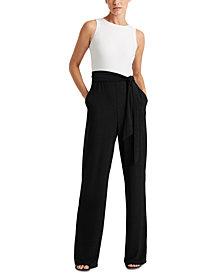 Lauren Ralph Lauren Two-Tone Jersey Jumpsuit