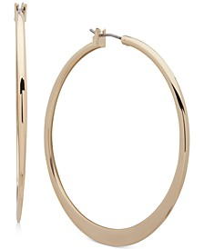 Gold-Tone Medium Thin Hoop Earrings, 2""
