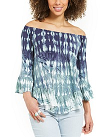 Petite Printed Off-The-Shoulder Top, Created For Macy's