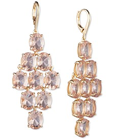 Gold-Tone Stone Chandelier Earrings