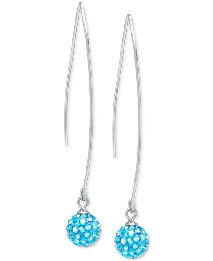 Giani Bernini - Crystal Cluster Threader Earrings in Sterling Silver