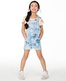 Big Girls Multi Glitter Star T-Shirt & Indigo Shortalls, Created for Macy's