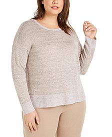Eileen Fisher Plus Size Organic Linen Sweater