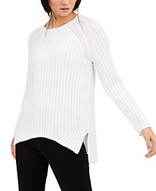 Ribbed High-Low Sweater