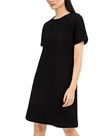 Textured Round-Neck Dress