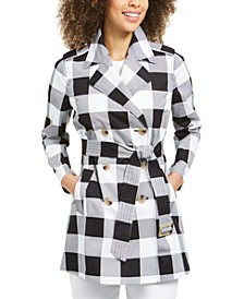 Checkered Trench Coat, Created for Macy's