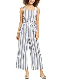 Striped Belted Jumpsuit, Created for Macy's