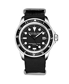Men's Black Nylon Strap Watch 42mm