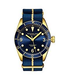 Men's Blue Nylon Strap Watch 41mm