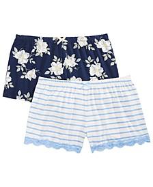 2-Pk. Printed Pajama Shorts
