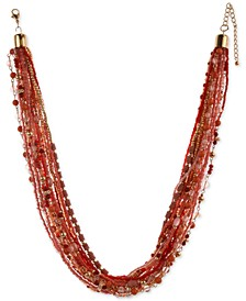 "Multi-Bead Torsade Necklace, 24"" + 3"" extender, Created For Macy's"
