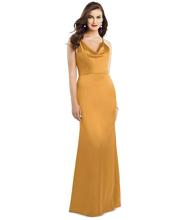Dessy Collection Cowlneck Sleeveless Maxi Dress