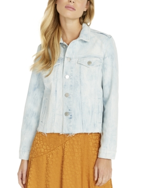 Buffalo David Bitton Frayed-Hem Denim Jacket