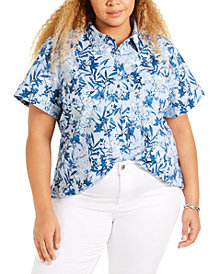 Tommy Hilfiger Plus Size Camp Shirt