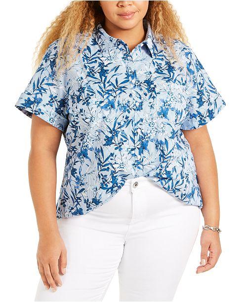 Tommy Hilfiger Plus Size Camp Shirt