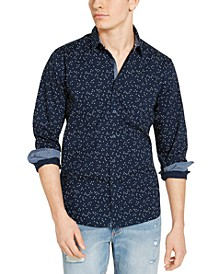 Men's Crossroads Print Shirt, Created for Macy's