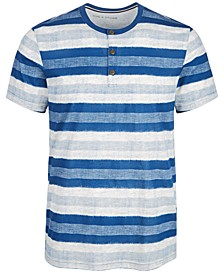 Men's Basket Stripe Henley, Created for Macy's