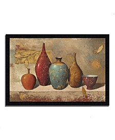 Leaves and Vessels by James Wiens Framed Painting Print