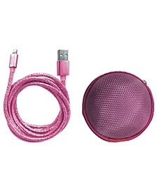 Glitter Apple Mfi Certified Charging Cable with Storage Pouch- iPhone Charger