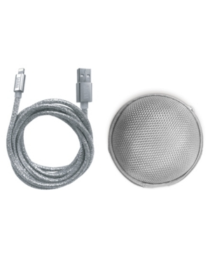 Sarina Accessories Glitter Apple Mfi Certified Charging Cable with Storage Pouch- iPhone Charger