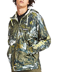 Men's Urban Camo Print Windbreaker Jacket