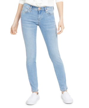 True Religion Halle Super Skinny Side-Stripe Jeans