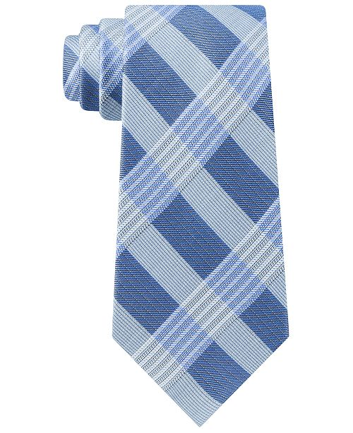 Calvin Klein Men's Semi-Contrast Plaid Tie