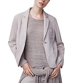 Cotton One-Button Blazer