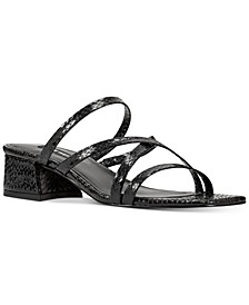 Remy Block-Heel Slide Sandals