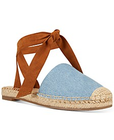 More Ankle-Tie Espadrille Flats