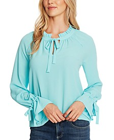Ruffled Bell-Sleeve Top