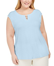 Plus Size Keyhole Top