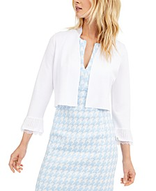 Lace-Trim Shrug Sweater