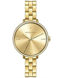 Women's Gold-Tone Stainless Steel Bracelet Watch 39mm
