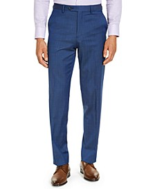 CLOSEOUT! Men's Classic-Fit Airsoft Stretch Blue Solid Suit Pants