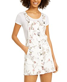 Juniors' Floral-Print Button-Front Skirtall